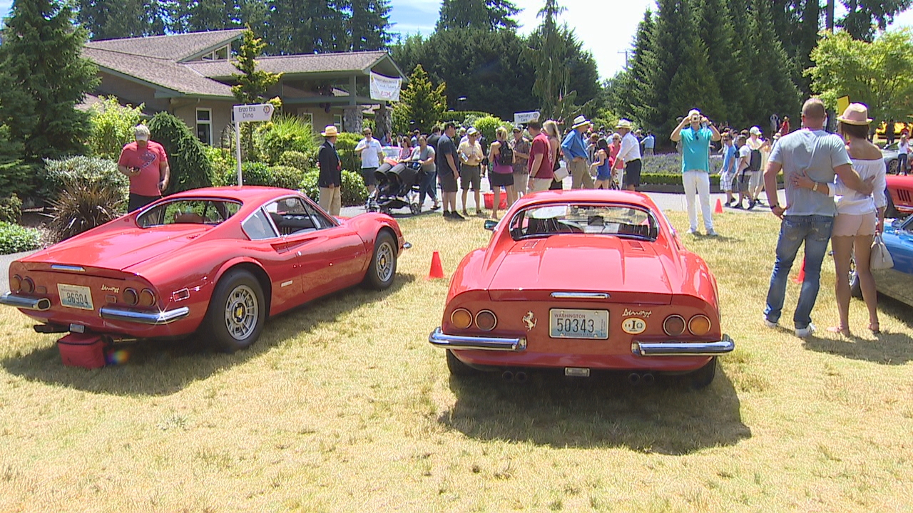 More than 100 Ferraris were on display at the Ferrari Club of{ } America's Northwest Region's Ferarri Concours on Sunday in Renton. (KOMO News){ }