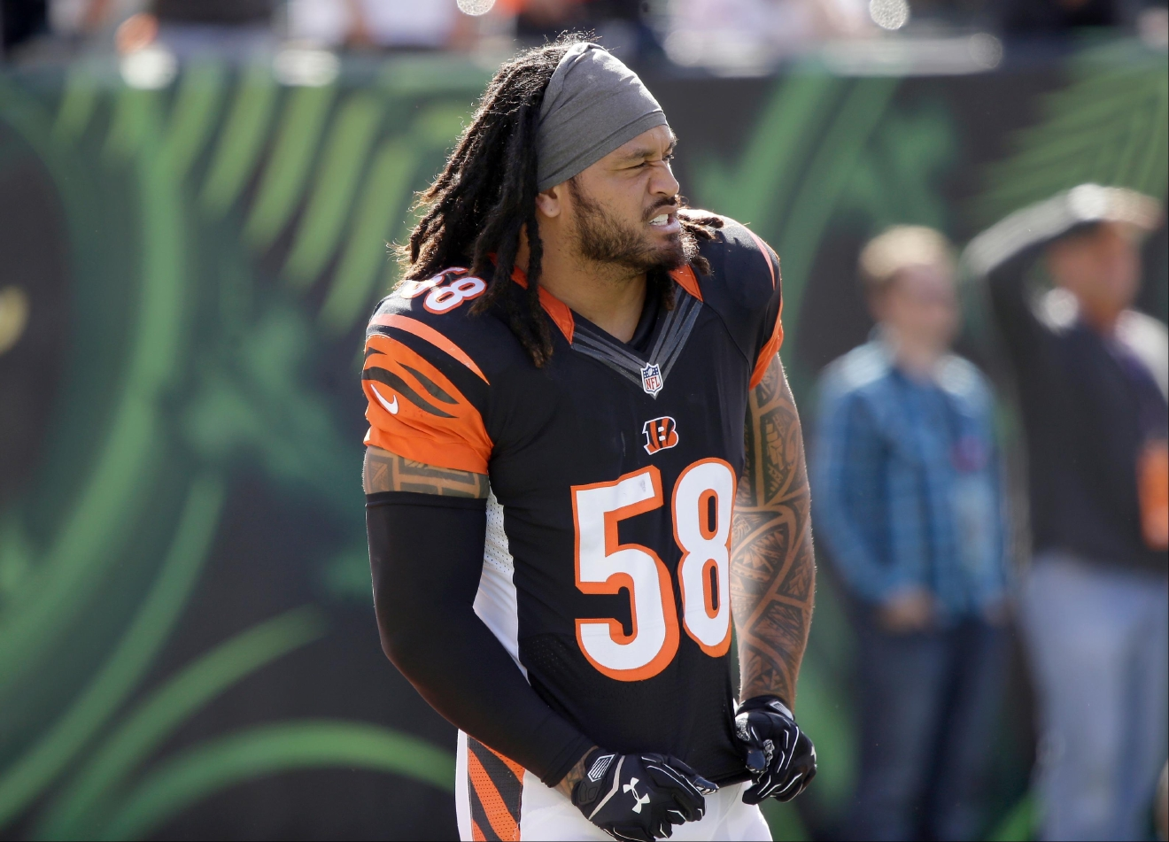 Bengals LB Rey Maualuga finished the 2016-17 season with 17 solo tackles and an interception. (WKRC/Tony Tribble)