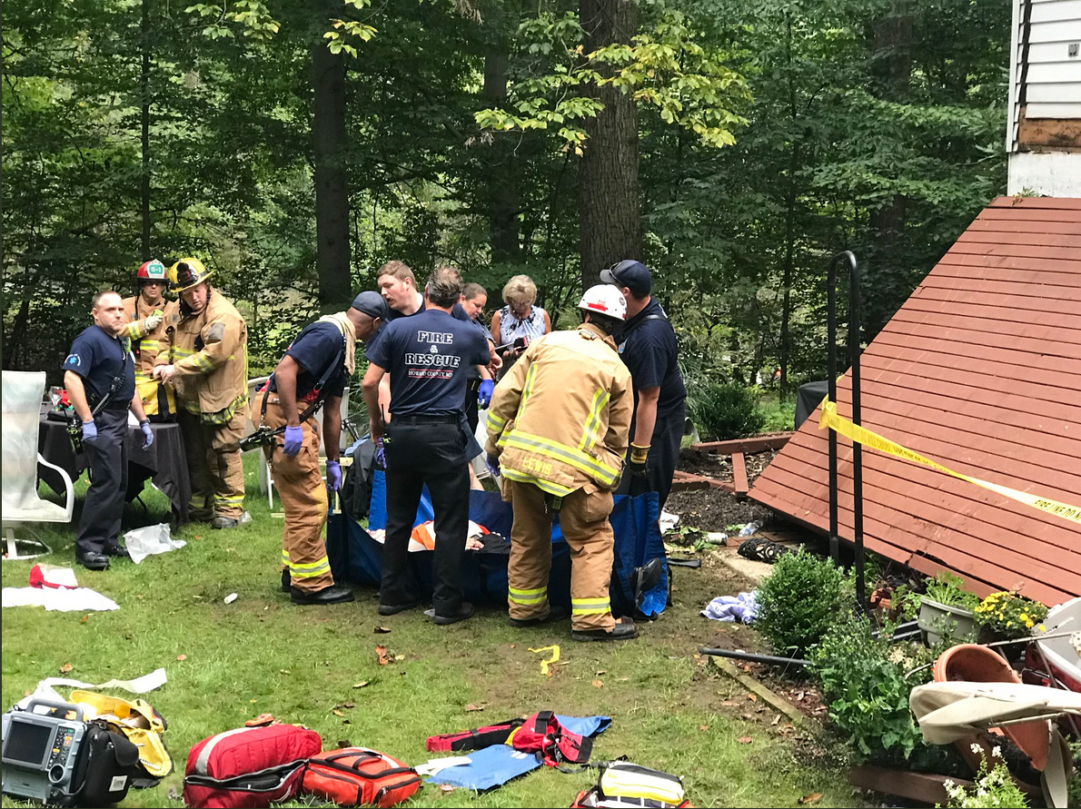Mass casualty incident reported after deck collapse in Ellicott City<p>Courtesy: HCDFRS</p>