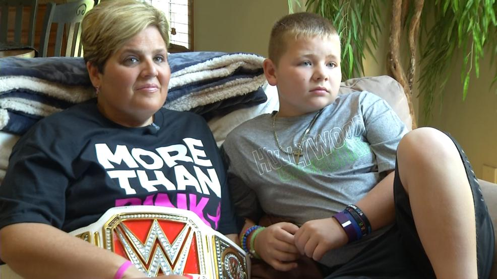 "Kelly Sherman, a cancer survivor from Hilliard, got the chance to be a part of the WWE's new ""More than Pink"" public service announcement and to appear on 'Monday Night Raw.' (WSYX/WTTE)"