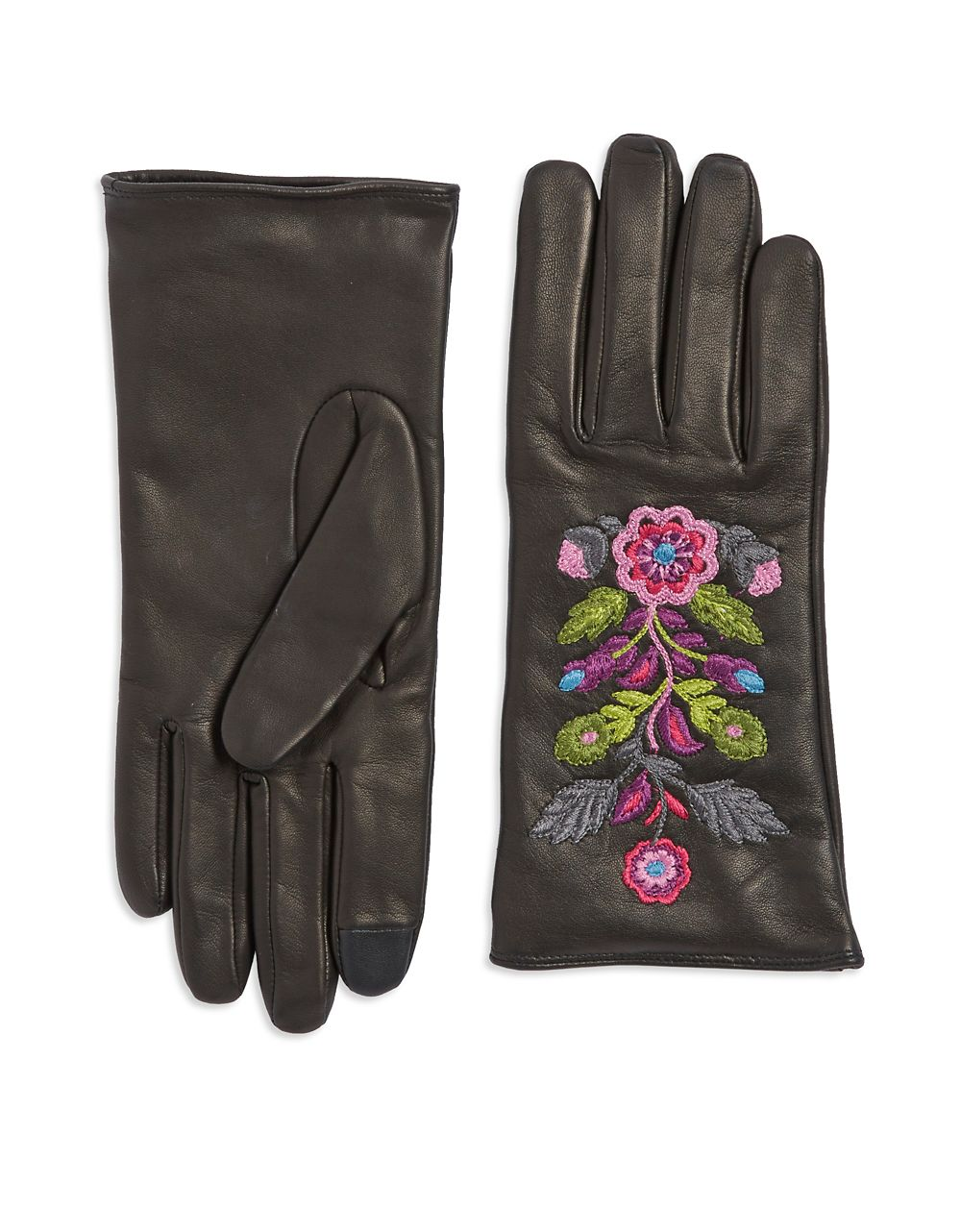 Carolina Amato Embriodered Leather Gloves at Lord + Taylor // Price: $150 // (Lord + Taylor // lordandtaylor.com){&amp;nbsp;}<p></p>