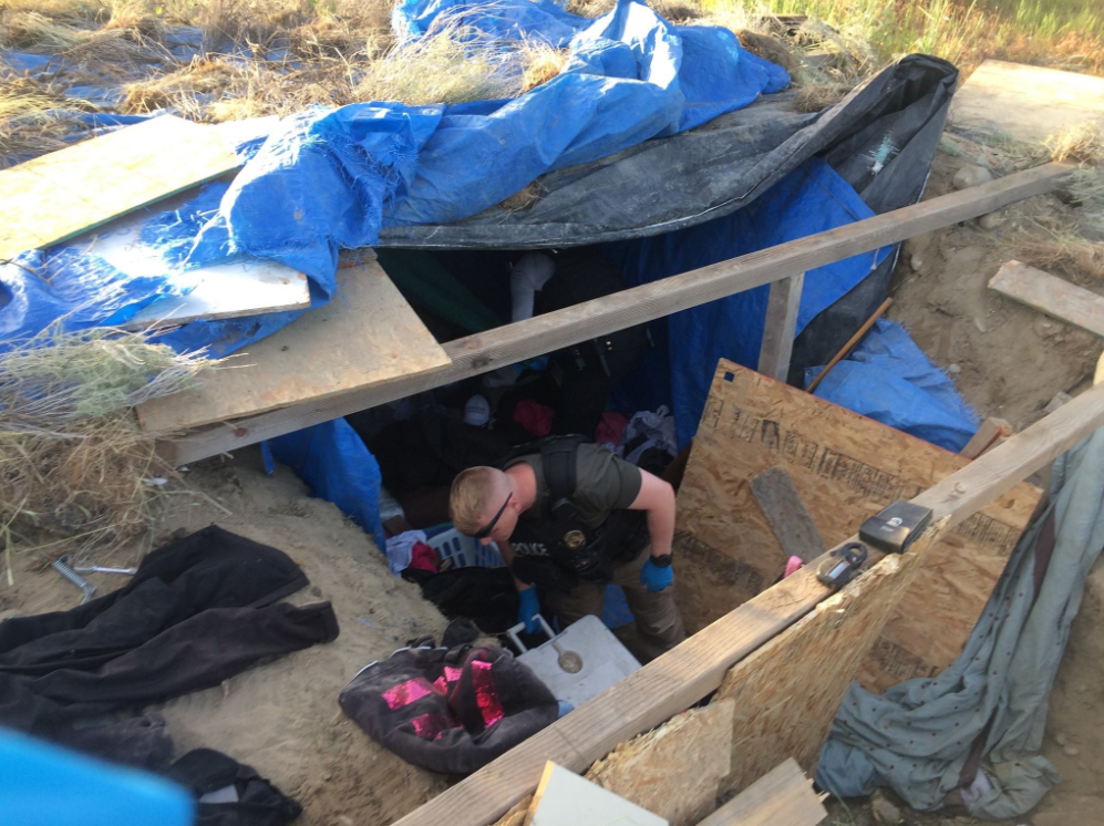 Kennewick police discover underground campsite during investigation