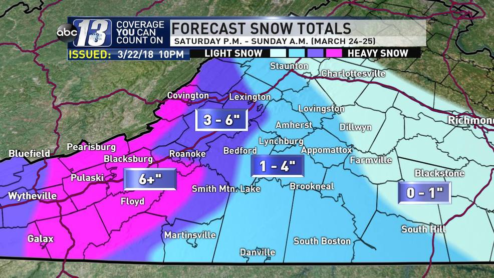 Lynchburg Southside and Roanoke Be ready for weekend snow WSET