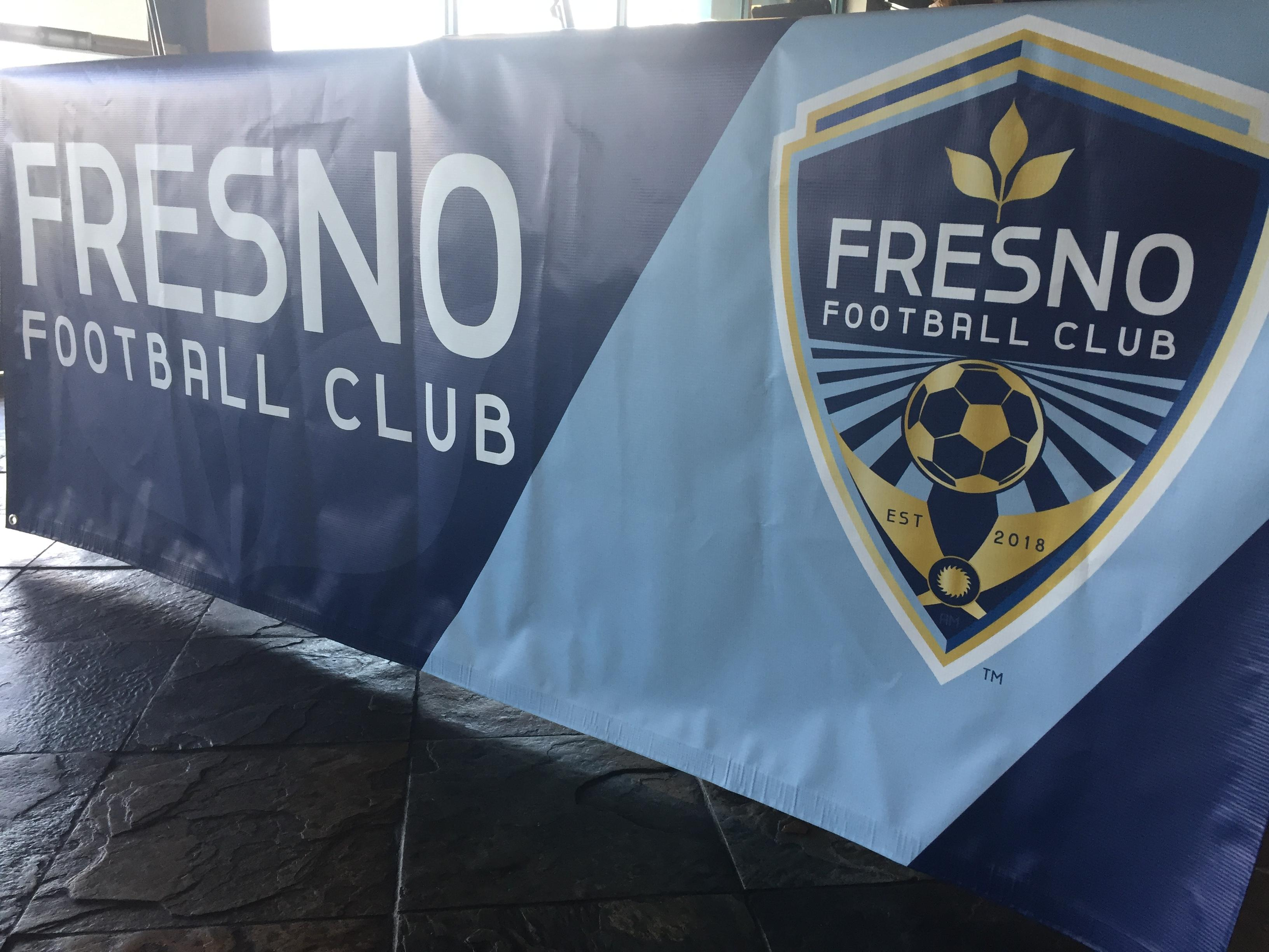 The Fresno FC crest is designed with Fresno and the Central Valley in mind. As explained by General Manager Frank Yallop, there are crop lines for agriculture, and then, like the city flag, an ash tree leaf, a sun and light blue coloring.