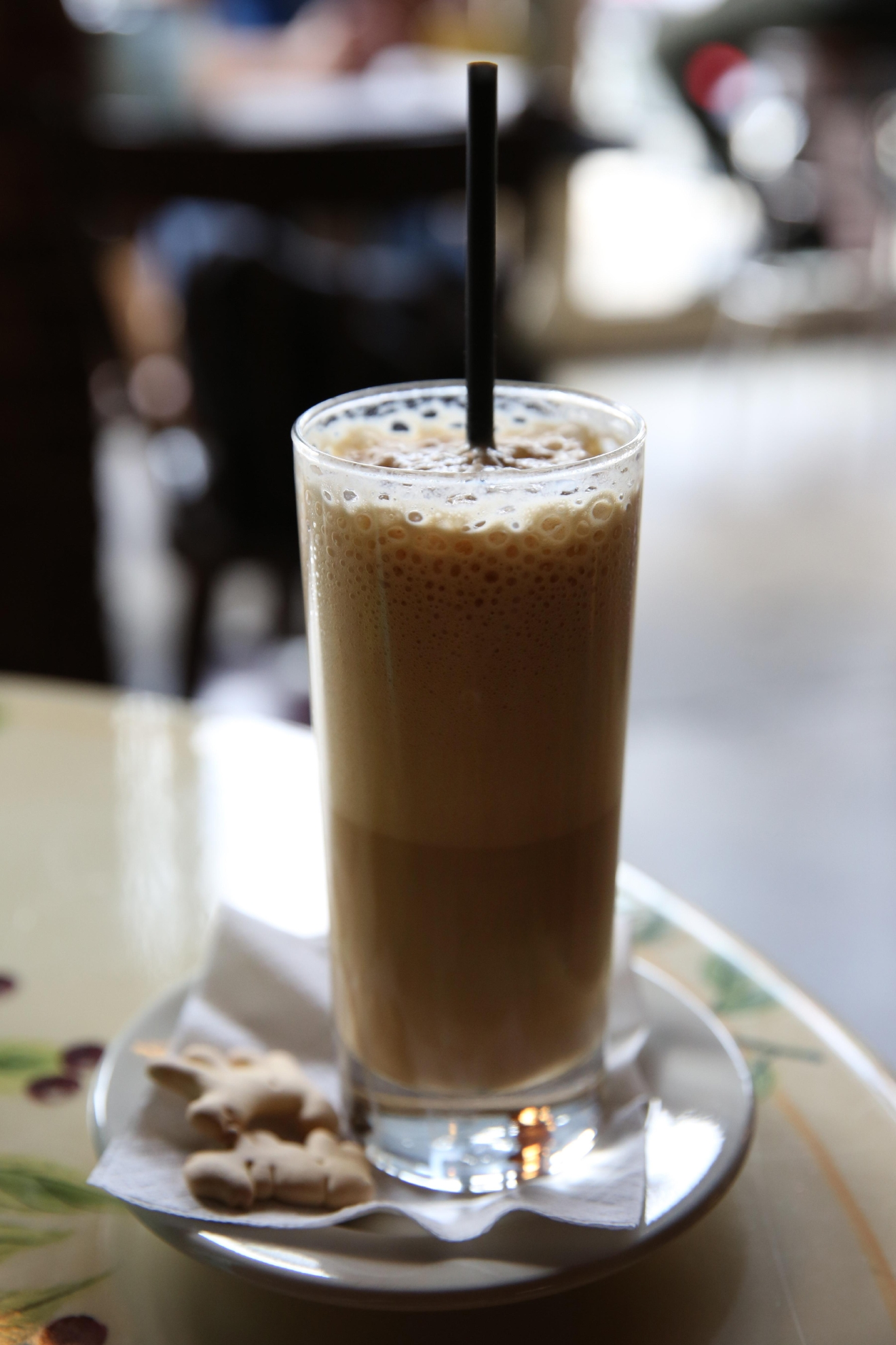 The hazelnut shakerato at Tryst is really delicious and great fuel for thrifting. (Amanda Andrade-Rhoades/DC Refined)