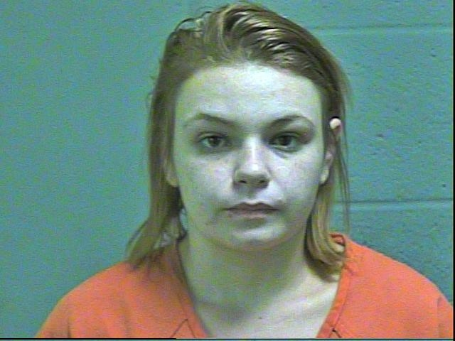 Rose Fahrendorf, 21, was arrested in Oklahoma City on complaints of unauthorized use of a computer and offering to engage in an act of prostitution. (Oklahoma County Jail)
