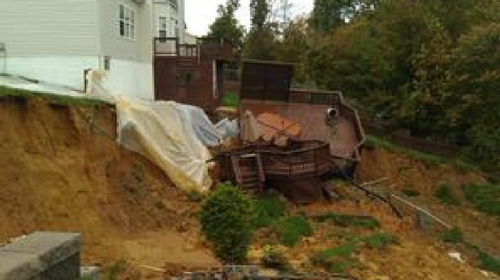 Stafford county homes saved after series of landslides | WJLA
