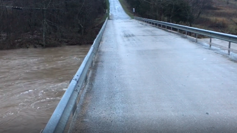 Inside the Storm: Heavy rain floods the Finely River in Missouri
