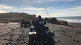 Search under way for Oregon father, young son swept out to sea