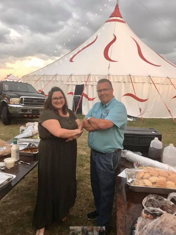 From left are Martin County Foster Parent Association President Ericah Brinson and Jay Spicer, manager for the Martin County Fair Association. (Communities Connected for Kids)