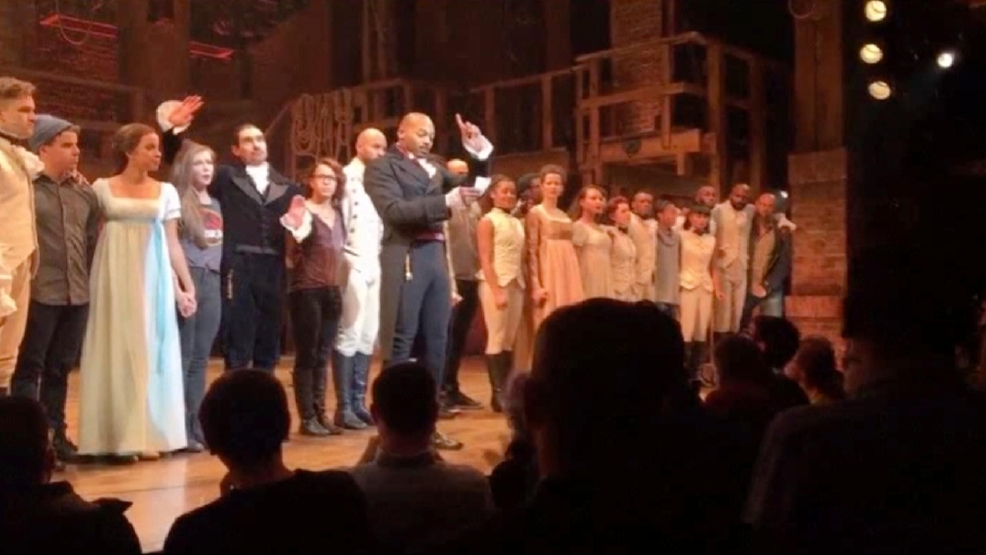 'Hamilton' member gives Pence earful. Trump: 'Apologize!'