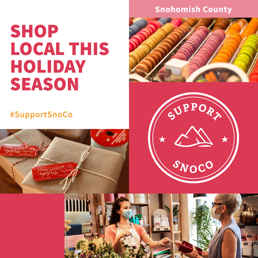 The Support SnoCo online hub encourages residents and visitors to support their neighbors this holiday season by shopping locally. SupportSnoCo.com highlights the fantastic shopping, food, and outdoor amenities the county offers.