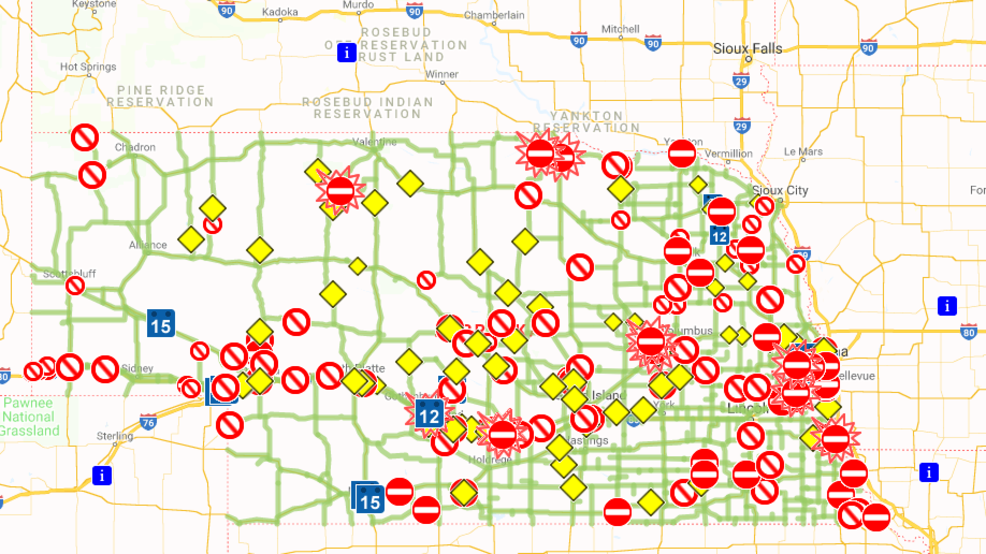 511 nebraska road conditions map Nebraska 511 Maps Out Road Conditions For Residents Khgi 511 nebraska road conditions map