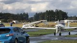 NWS: Tornado touches down at Aurora airport, flipping two planes