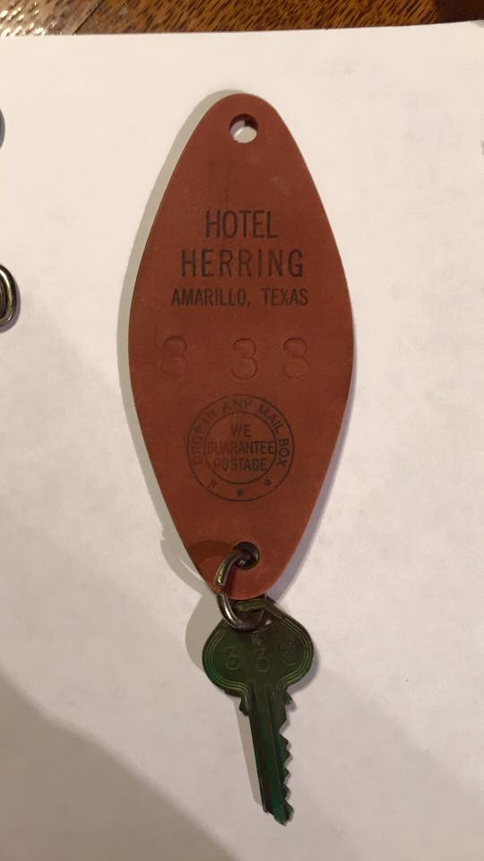 A key fob from Amarillo's Herring Hotel.{&amp;nbsp;}(courtesy: Herring Hotel/Mel Griswold)<p></p>