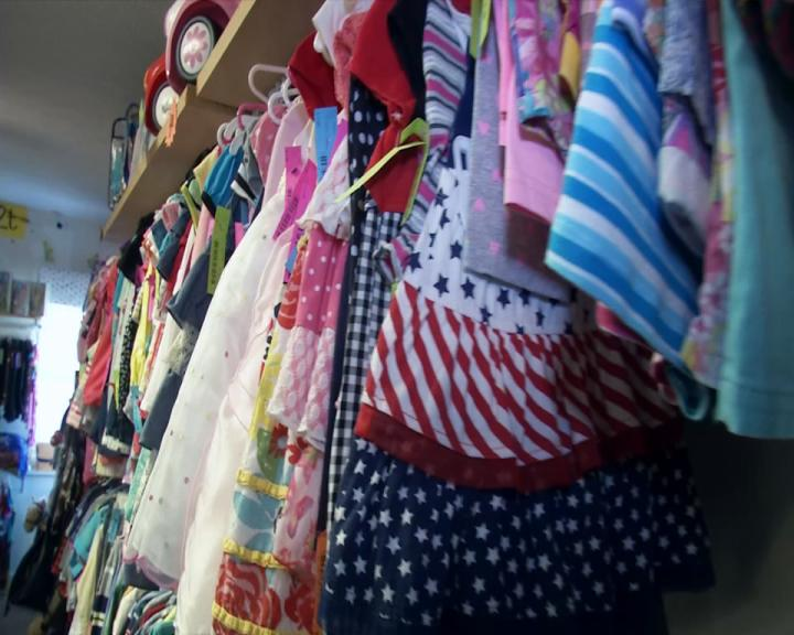 The owner of Just 4 Kids Consignment says she is busy with people from elementary all the way up to high school coming in for new clothes. (WCHS/WVAH)
