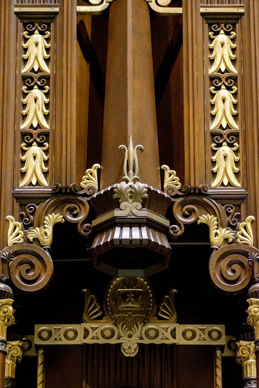 It's the only Catholic cathedral in Cincinnati. 'Cathedra' comes from the Latin word for 'seat.' A cathedral holds the seat of a bishop. / Image: Daniel Smyth // Published: 7.3.19