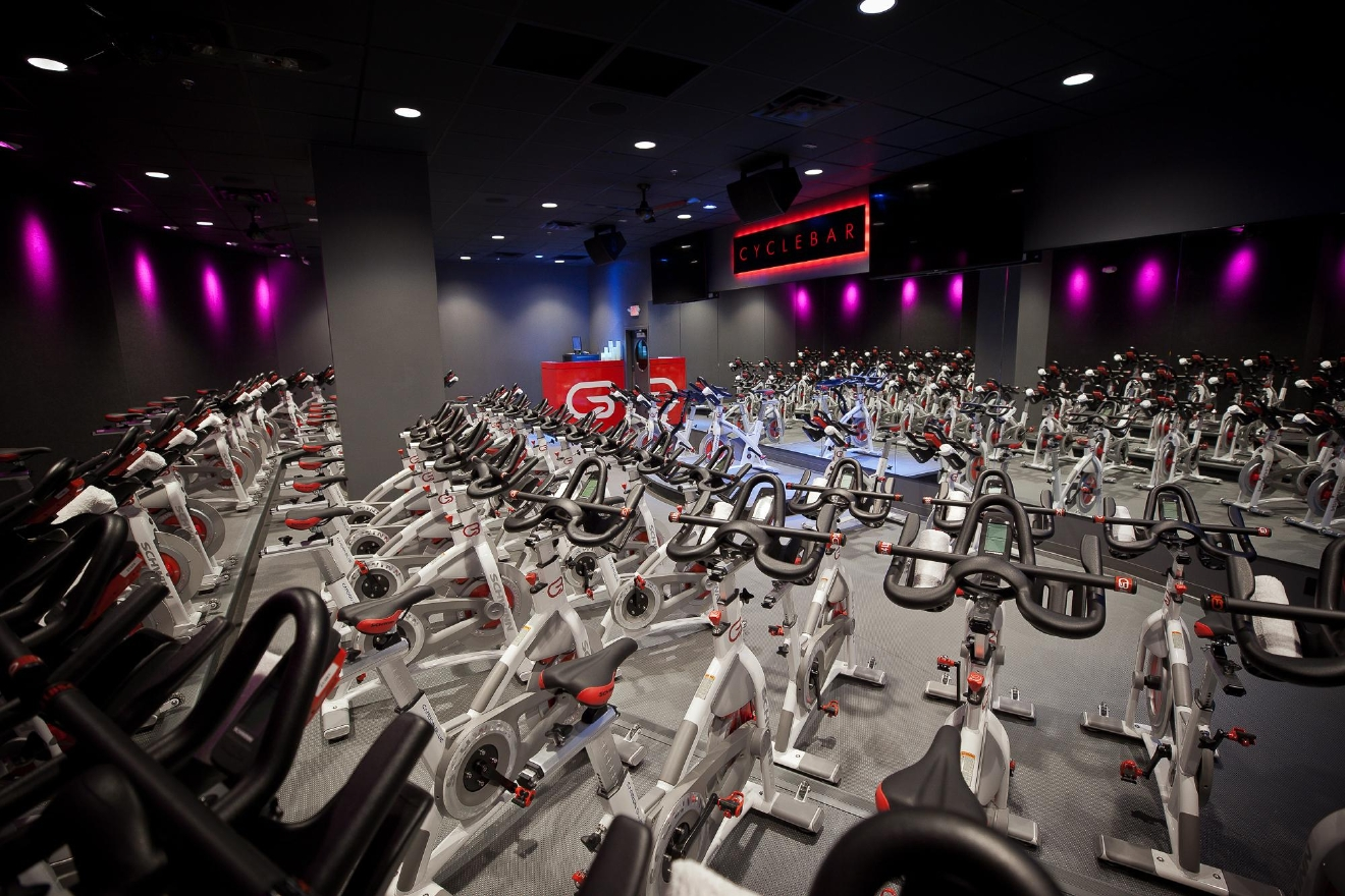 CycleBar is one of several fitness studios at Redmond Town Center.