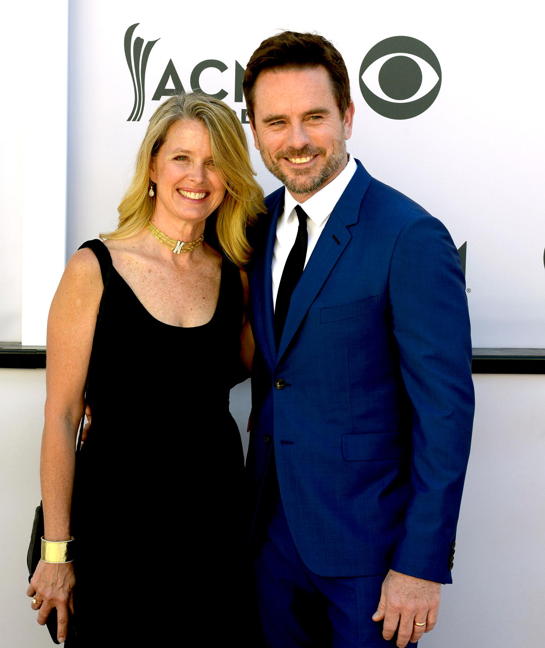 Charles Eston, best known for his role as Deacon Claybourne on the TV show Nashville with wife Patty Hanson walks the Academy of Country Music Awards red carpet at T-Mobile Arena. Sunday, April 2, 2017. (Glenn Pinkerton/ Las Vegas News Bureau)