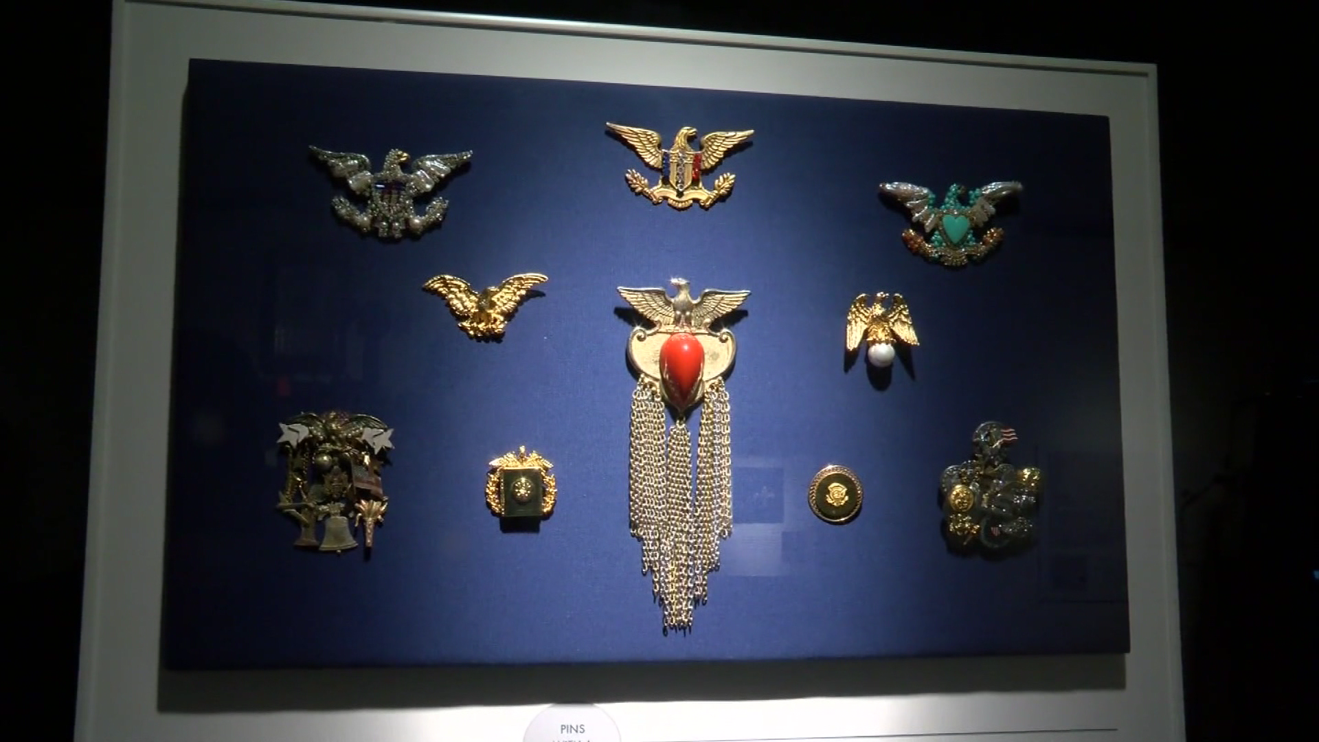Former U.S. Secretary of State Madeleine Albright's new exhibit Read My Pins was unveiled Thursday at the LBJ Library and Museum. It tells the story of Albright's unique way of using jewelry to send messages to world leaders. (CBS Austin)