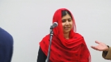 Malala surprises Sophia Academy students ahead of Dunk appearance