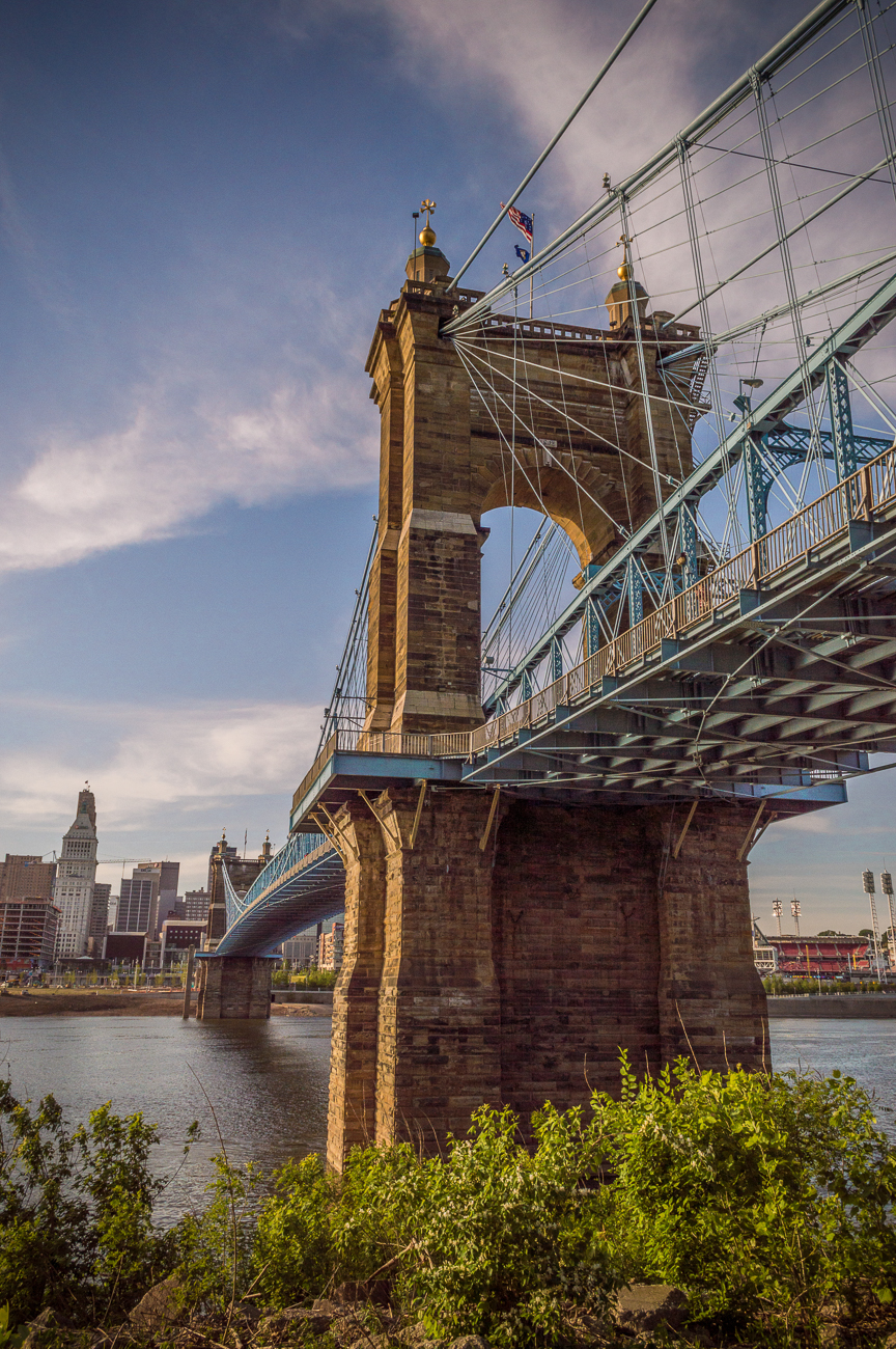 #6 (continued): Yup! You know it's the Roebling Bridge. Nice job, {<}insert your name here{>}! / Image: Phil Armstrong, Cincinnati Refined // Published: 4.24.19
