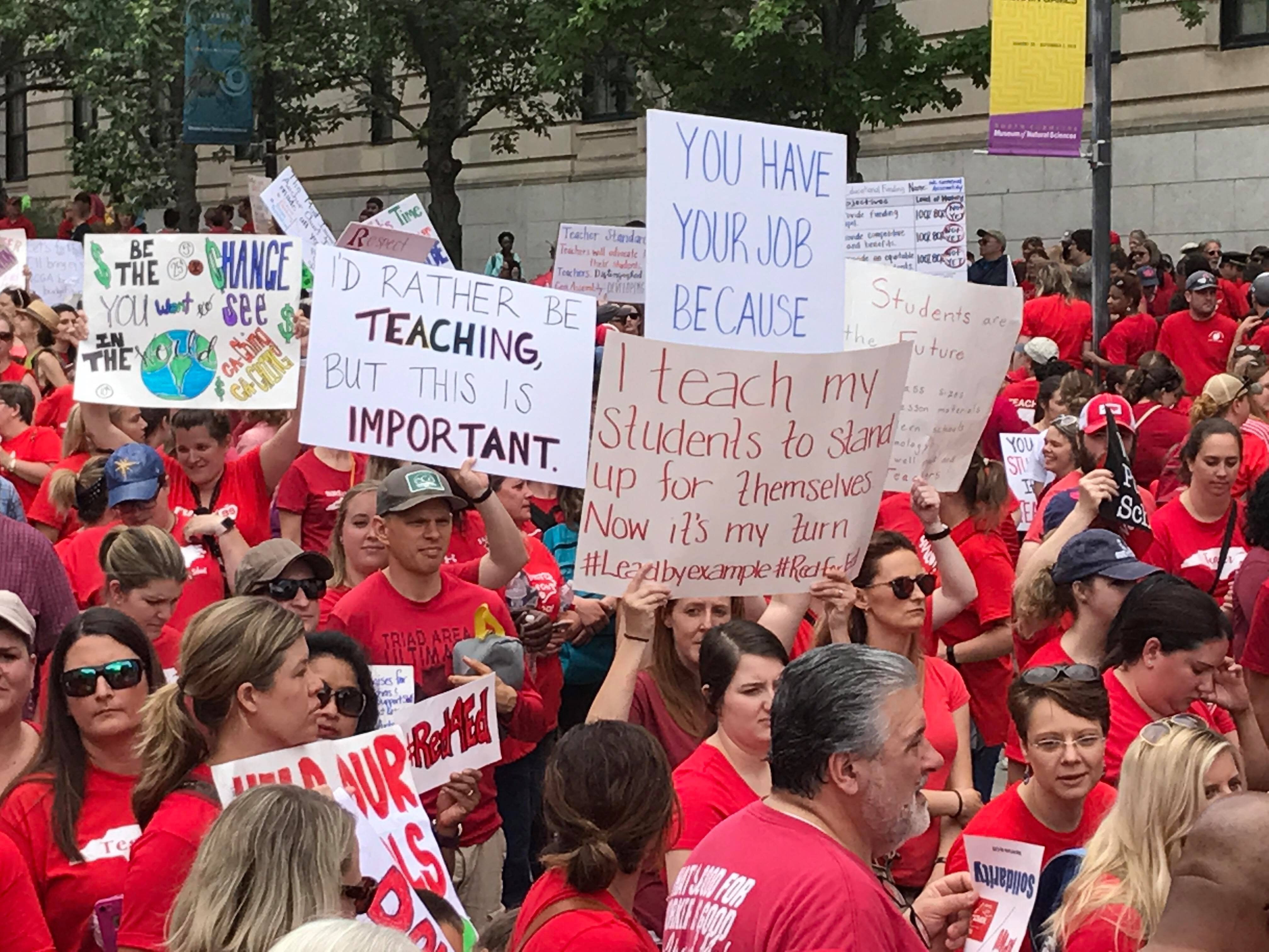 More than 15,000 teachers from across North Carolina are marching in Wednesday's rally in Raleigh. (Photo: WCTI)