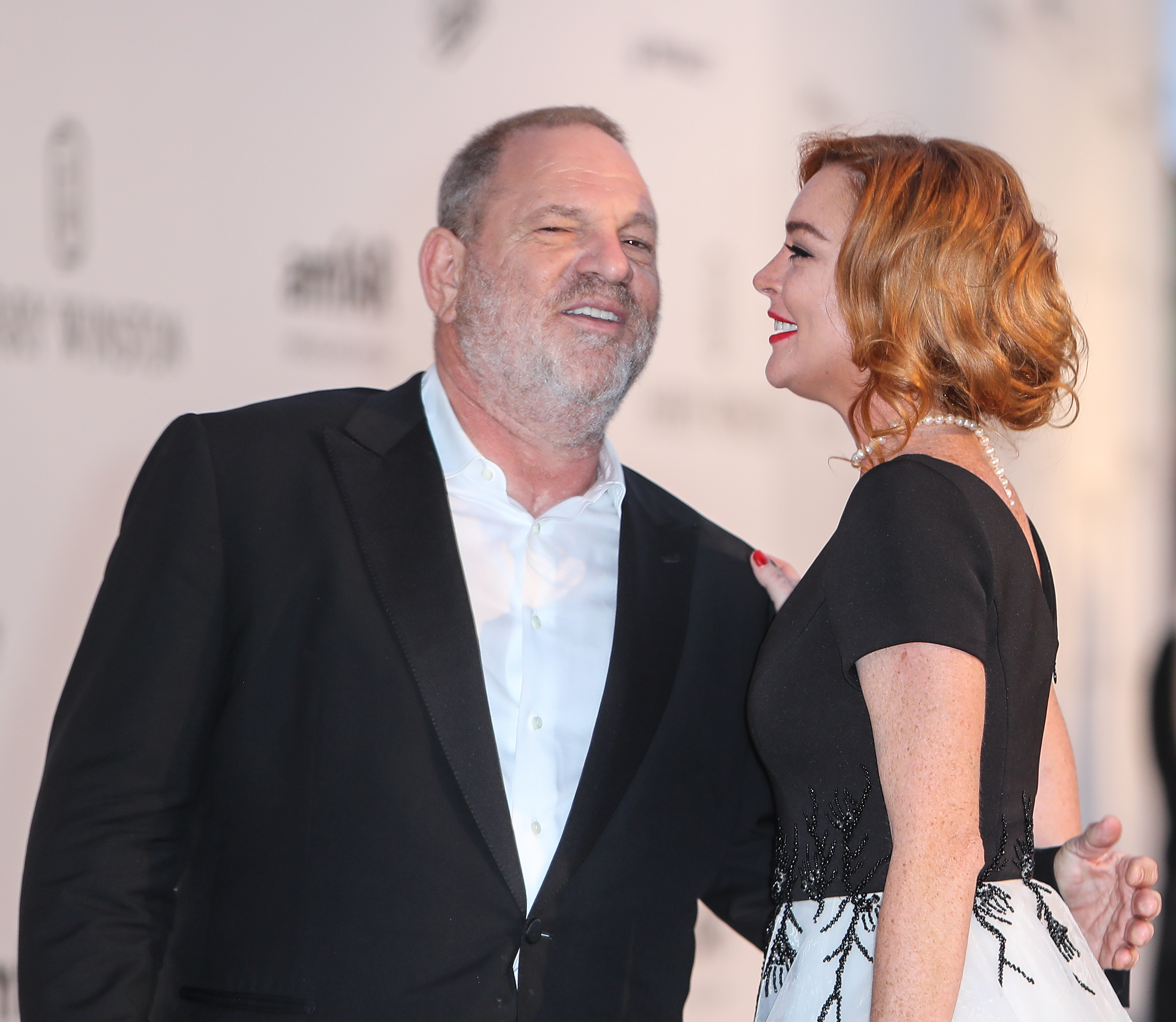 Arrivals for the 24th annual amfAR fundraiser during the Cannes Film Festival at the Hotel Eden Roc in Cap D'Antibes  Featuring: Harvey Weinstein, Lindsey Lohan, Lindsay Lohan Where: Cap D Antibes, United Kingdom When: 25 May 2017 Credit: John Rainford/WENN.com