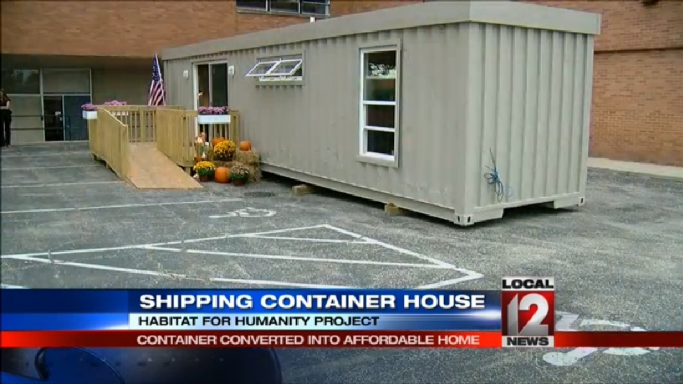 Habitat for humanity builds shipping container house wkrc for Habitat container