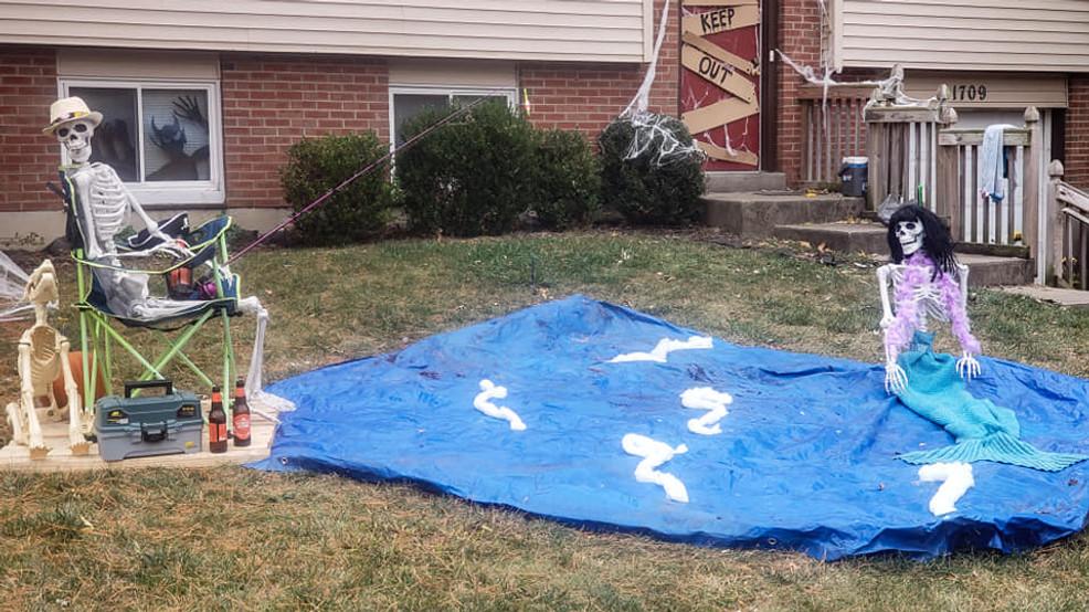 Hamilton woman creates newskeleton scene in front yard daily
