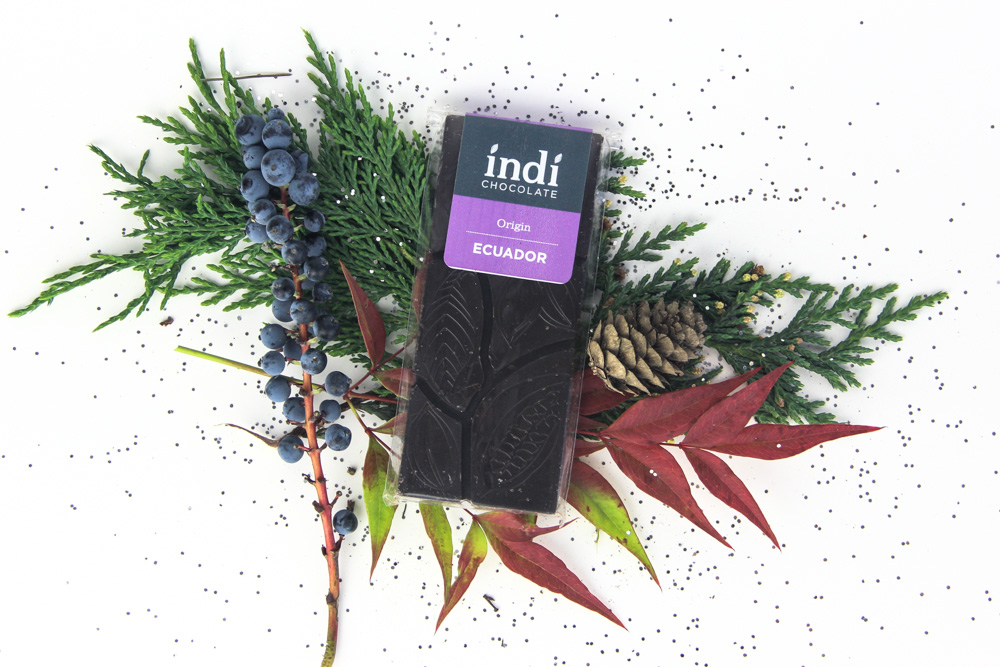 Chocolate maker Indi's Single-Source Chocolate Bars are a fantastic way to show your appreciation. Indi is a small batch artisan chocolate who sources beans directly from farms and cooperatives in Ecuador, Ghana and Haiti. Indi's chocolate is 72% dark chocolate and made with three ingredients: cocoa beans, sugar, cocoa butter. Soy, dairy and gluten free. (Image: Indi Chocolates)<p></p>