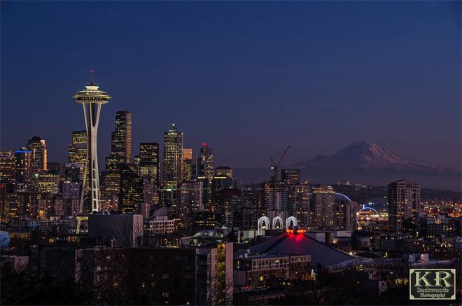 Seattle skyline - Kevin Russell, KR Backwoods Photography