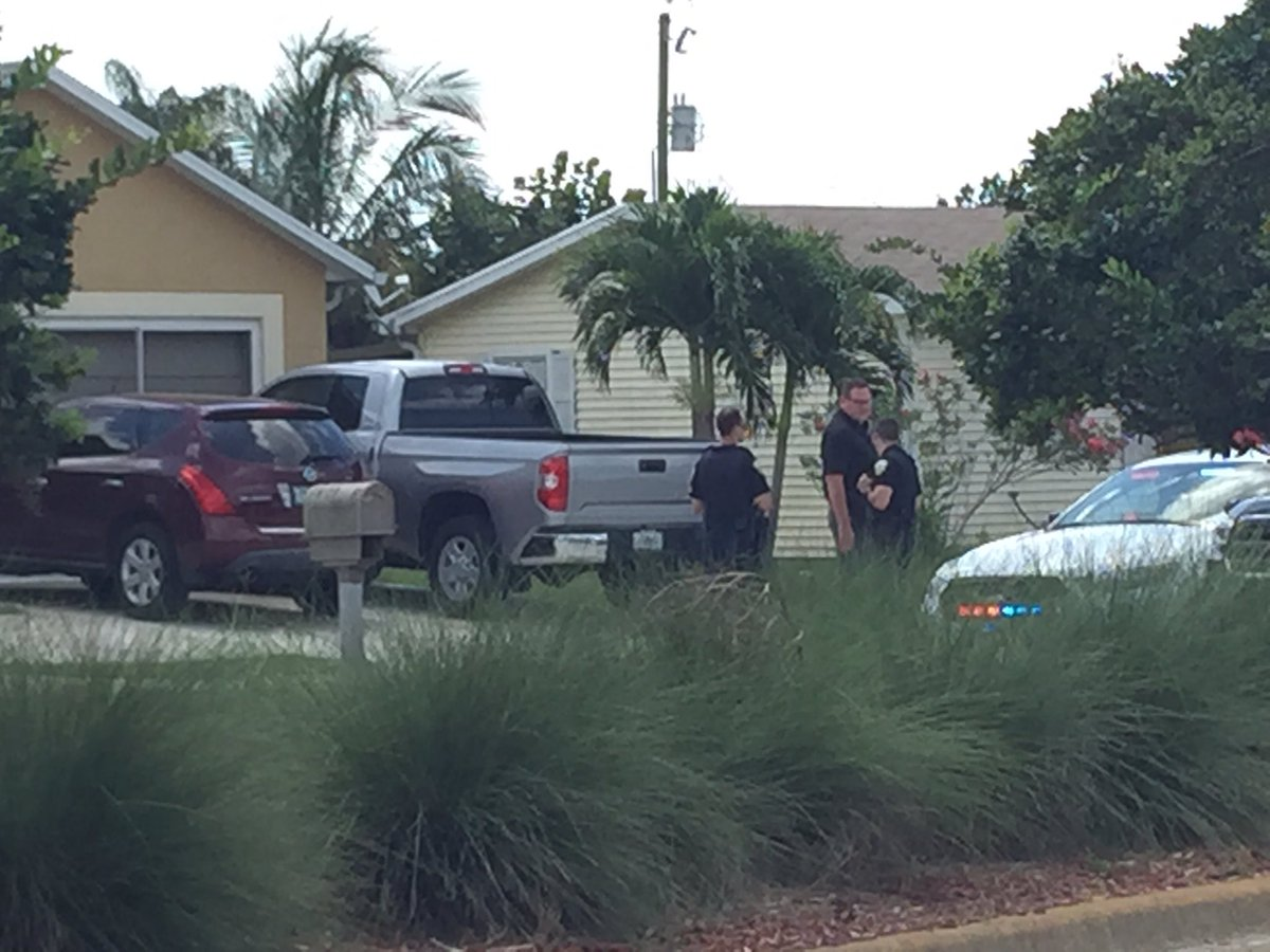 Police investigate gunman's family's home Sunday, June 12, 2016 in Port St. Lucie, Fla.  Omar Mateen was identified by multiple reports as the gunman who opened fire on a LGBT nightclub in Orlando.  50 people were killed, 53 others injured in the massacre. (WPEC)