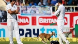 Dog stops play in cricket match between India and England