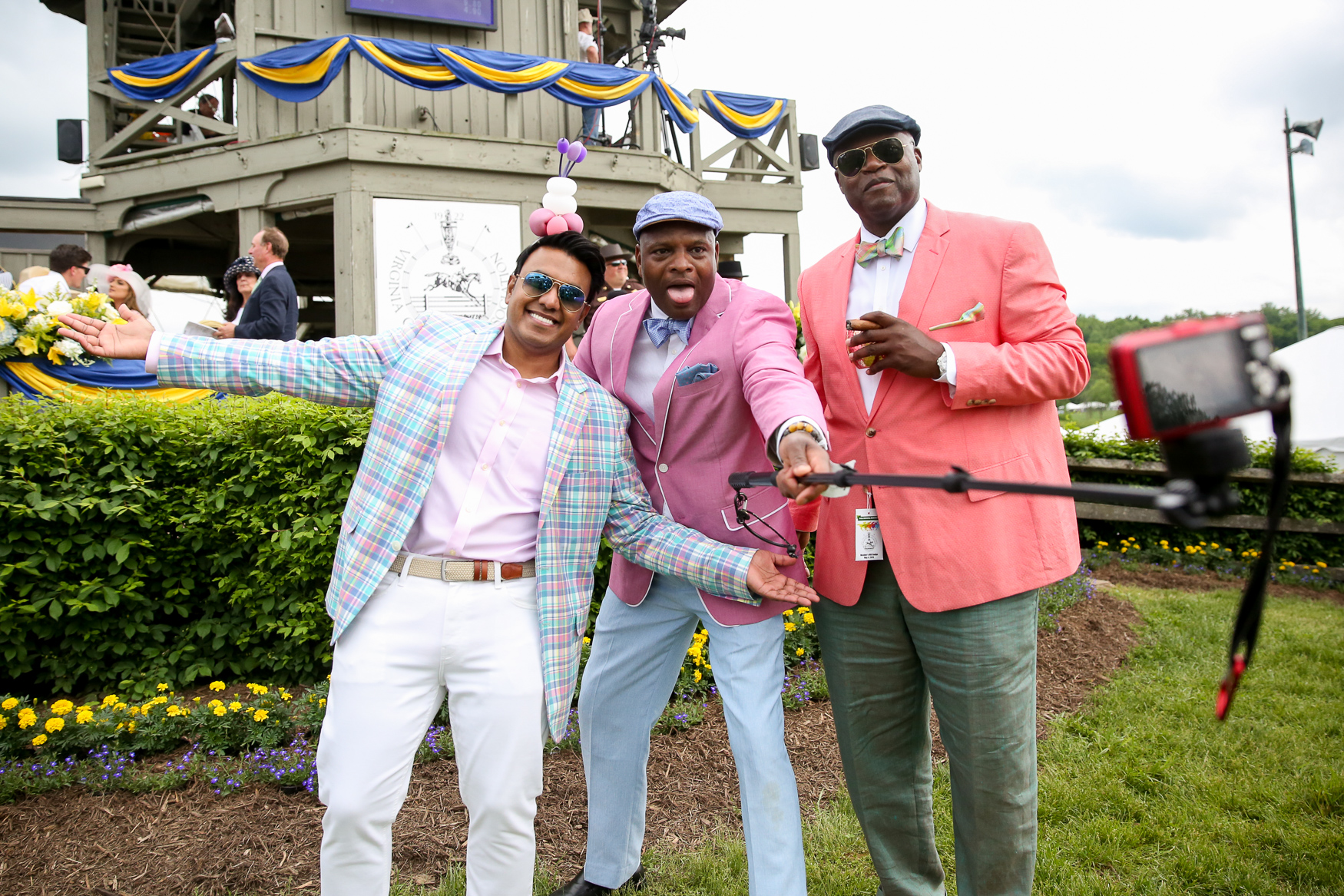 Men can get in on the trend too! These guys were contestants for the best dressed competition at Gold Cup.{ }(Amanda Andrade-Rhoades/DC Refined)