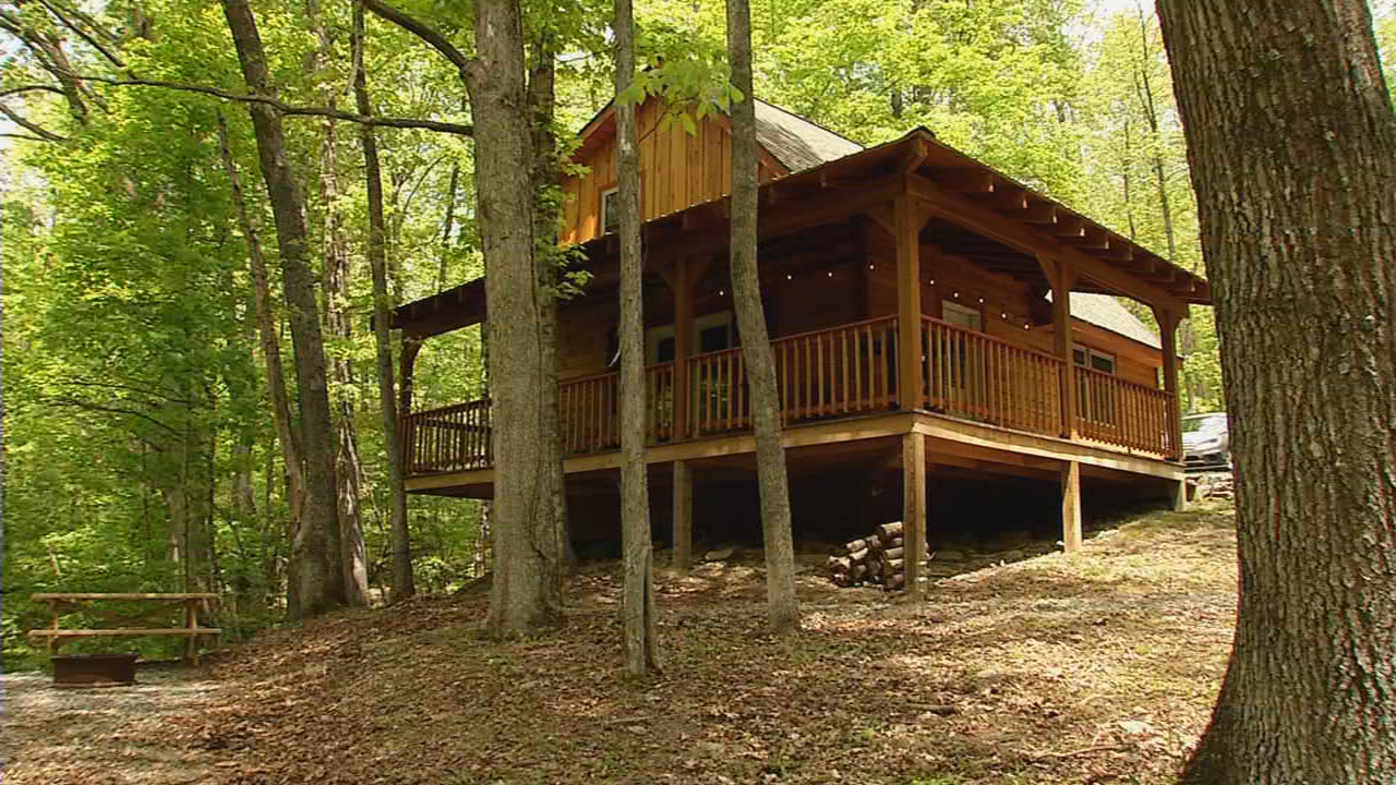 Cabin #3 is the largest cabin and can sleep 8 guests. (WCHS/WVAH)