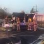 Double-wide trailer home destroyed by fire in North Las Vegas