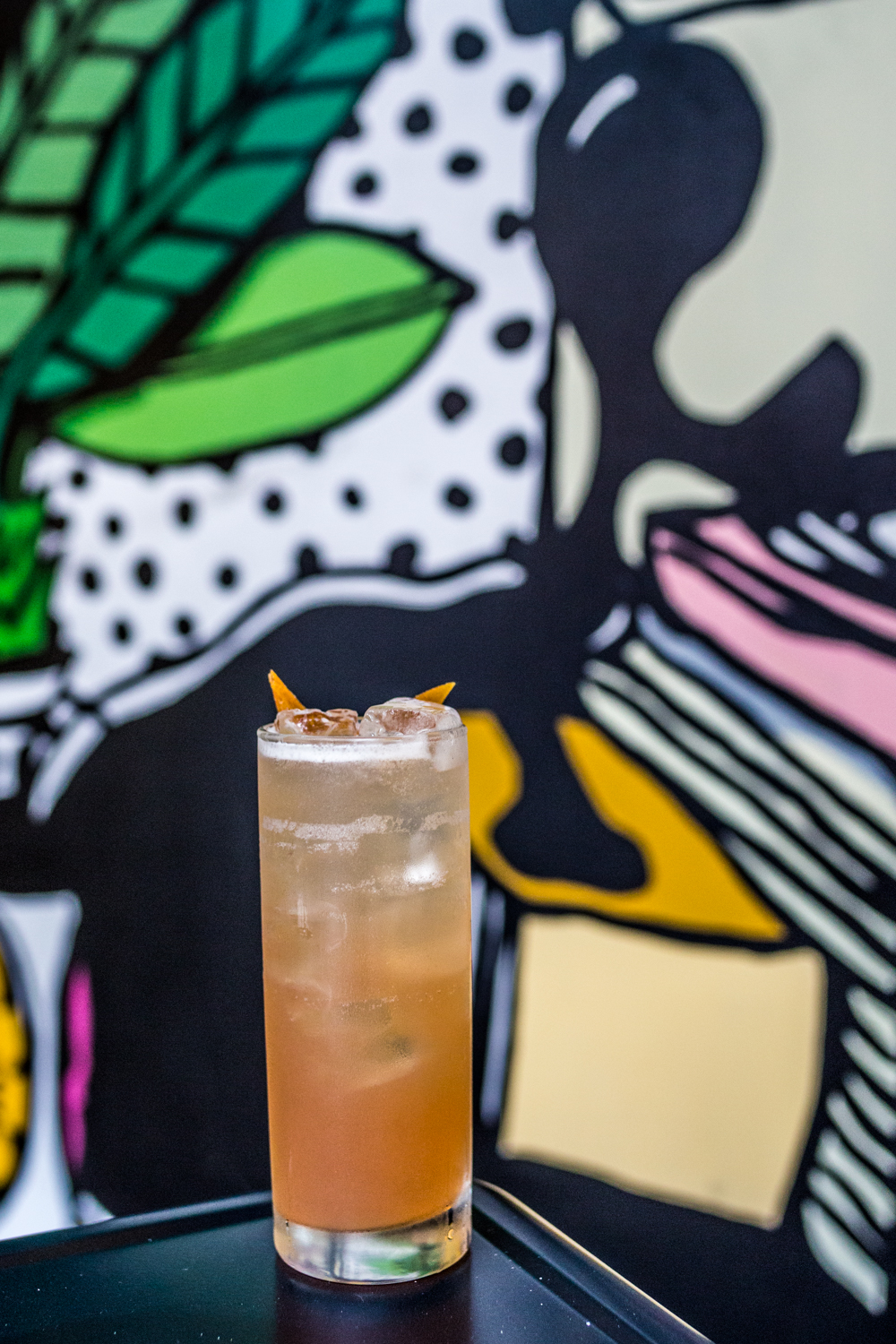Daily Dose: bourbon, peaches, Wendigo Jasmine Tea,  and lemon / Image: Catherine Viox // Published: 9.19.19