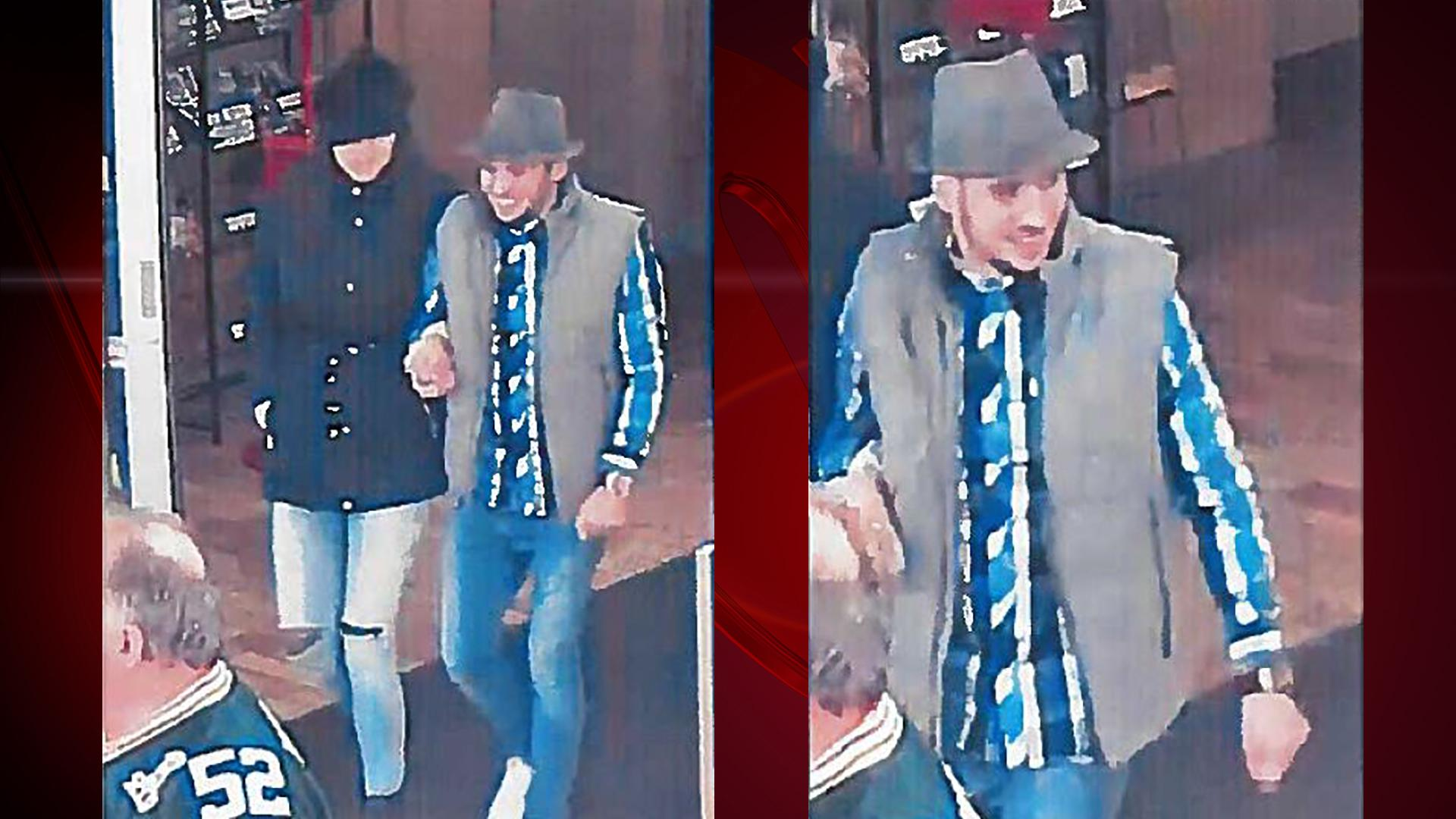 Surveillance images of two suspects believed to be involved in a card skimming incident at Woodman's store in Howard, November 19, 2017. (Photo courtesy of Brown County Sheriff's Office)