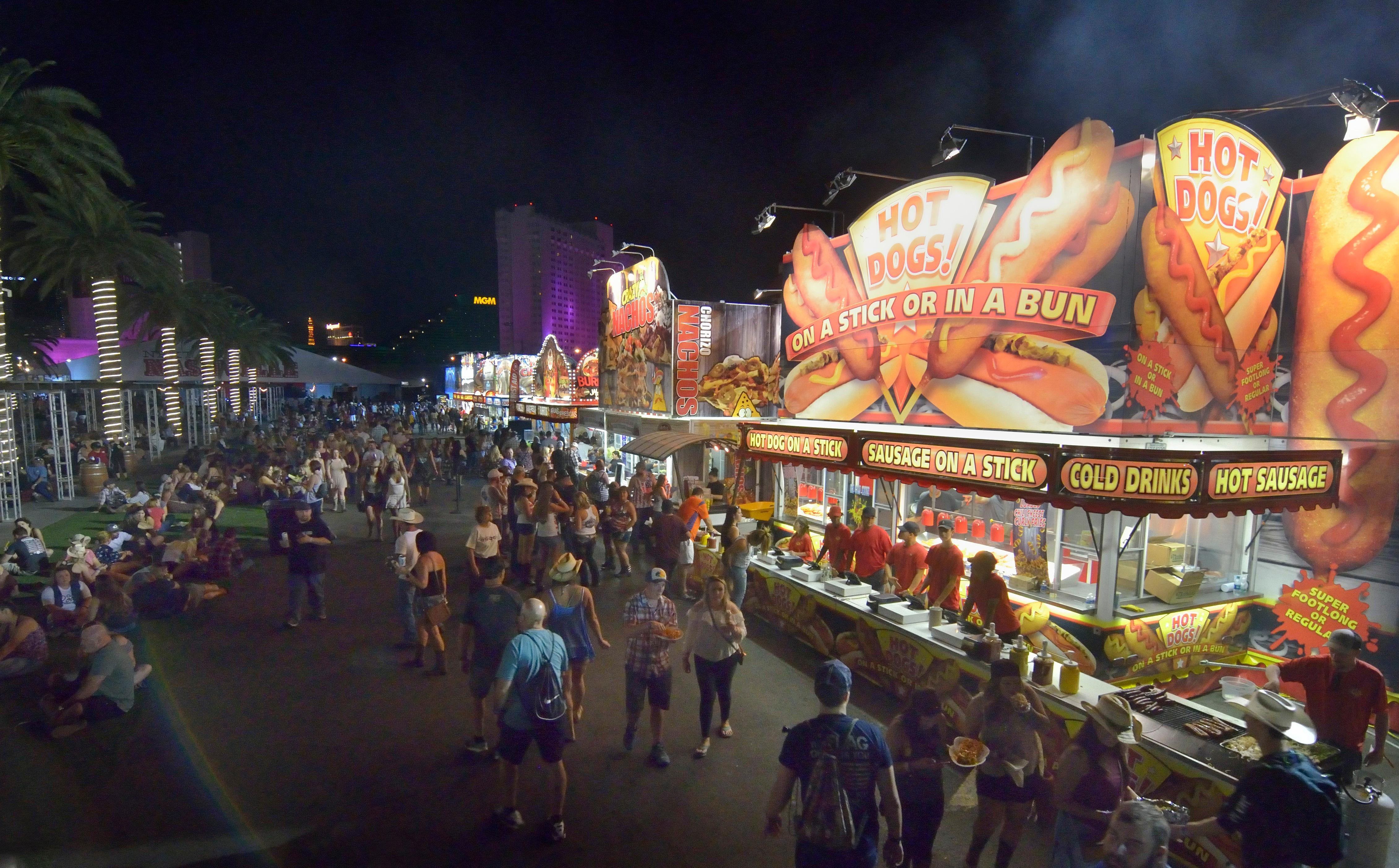 Part of the Harvest Market is shown at the Route 91 Harvest festival on Las Vegas Boulevard South in Las Vegas on Saturday, Sept. 30, 2017.  [Bill Hughes/Las Vegas News Bureau]
