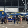 Blue Angels jet arrives at Museum of Flight