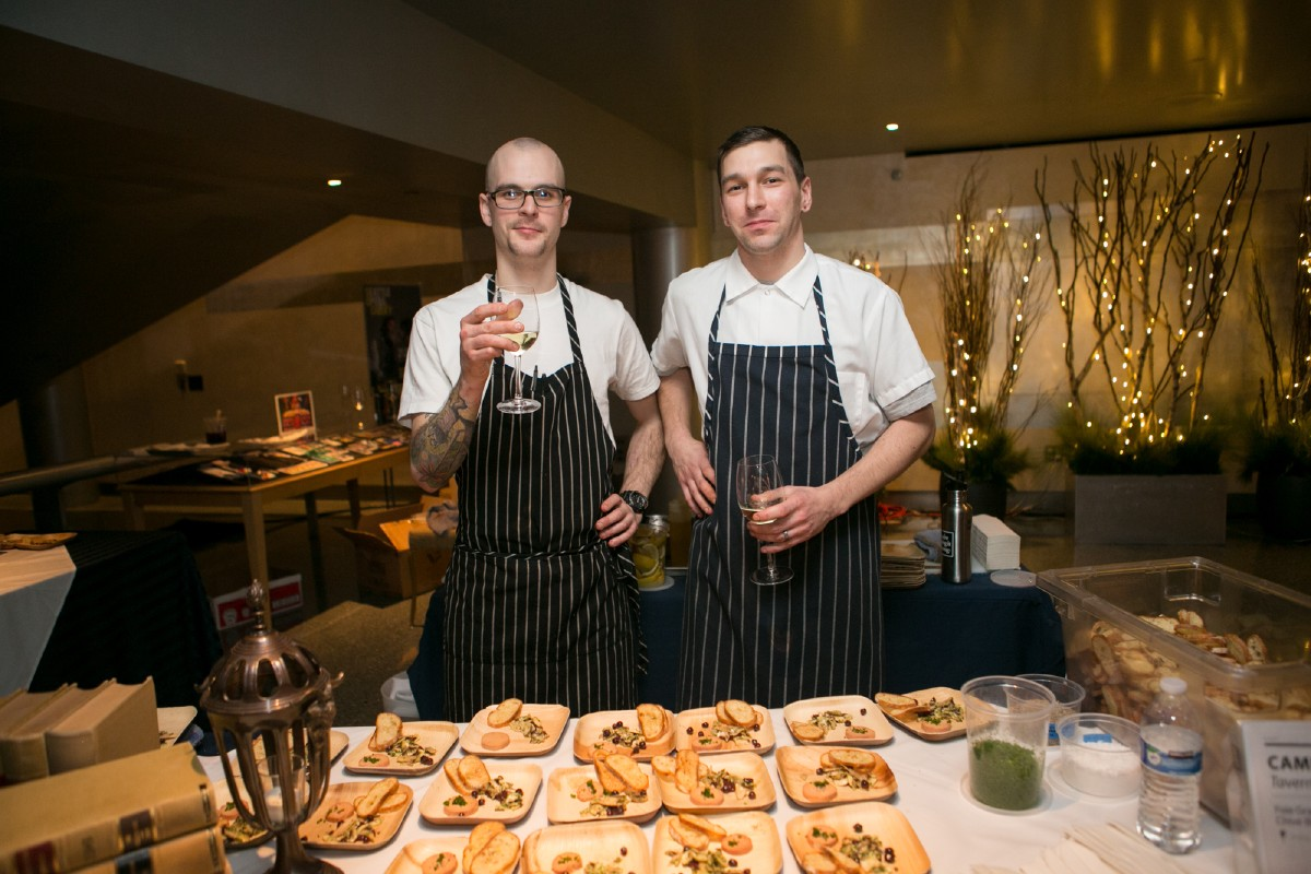 Cameron Hanin, right, of Tavern Law, recognized by StarChefs as one of their Rising Stars. (Image: Design StarChefs)
