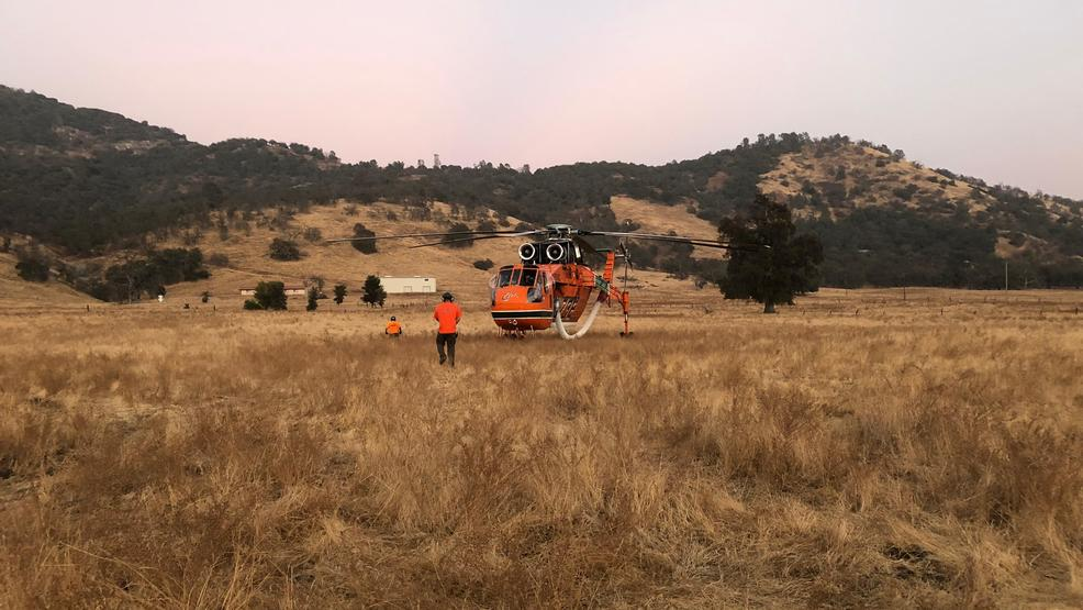 cal fire helicopter emergency landing in foothills community kmph
