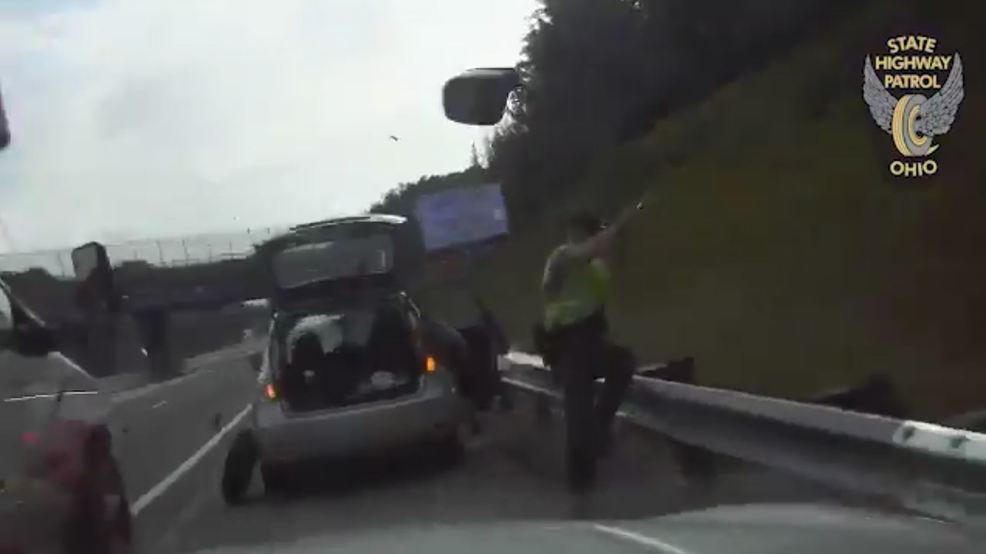OSHP release dash-cam footage of truck crashing into pulled-over police cruiser