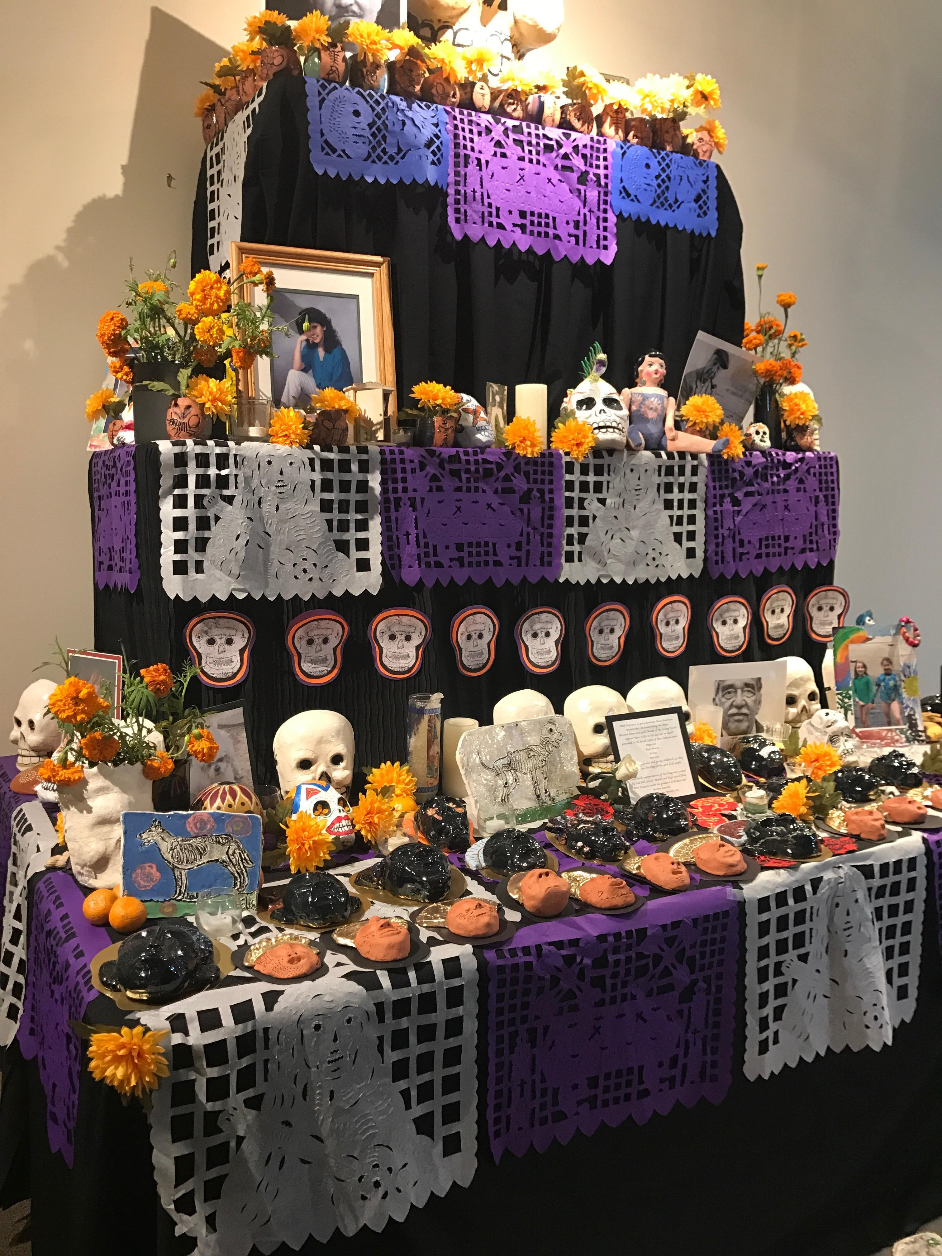 The two day celebration is dedicated to loved ones who have passed away. Creating alters with offerings called ofrendas including the person's favorite food, drinks and items that they once loved. (SBG)