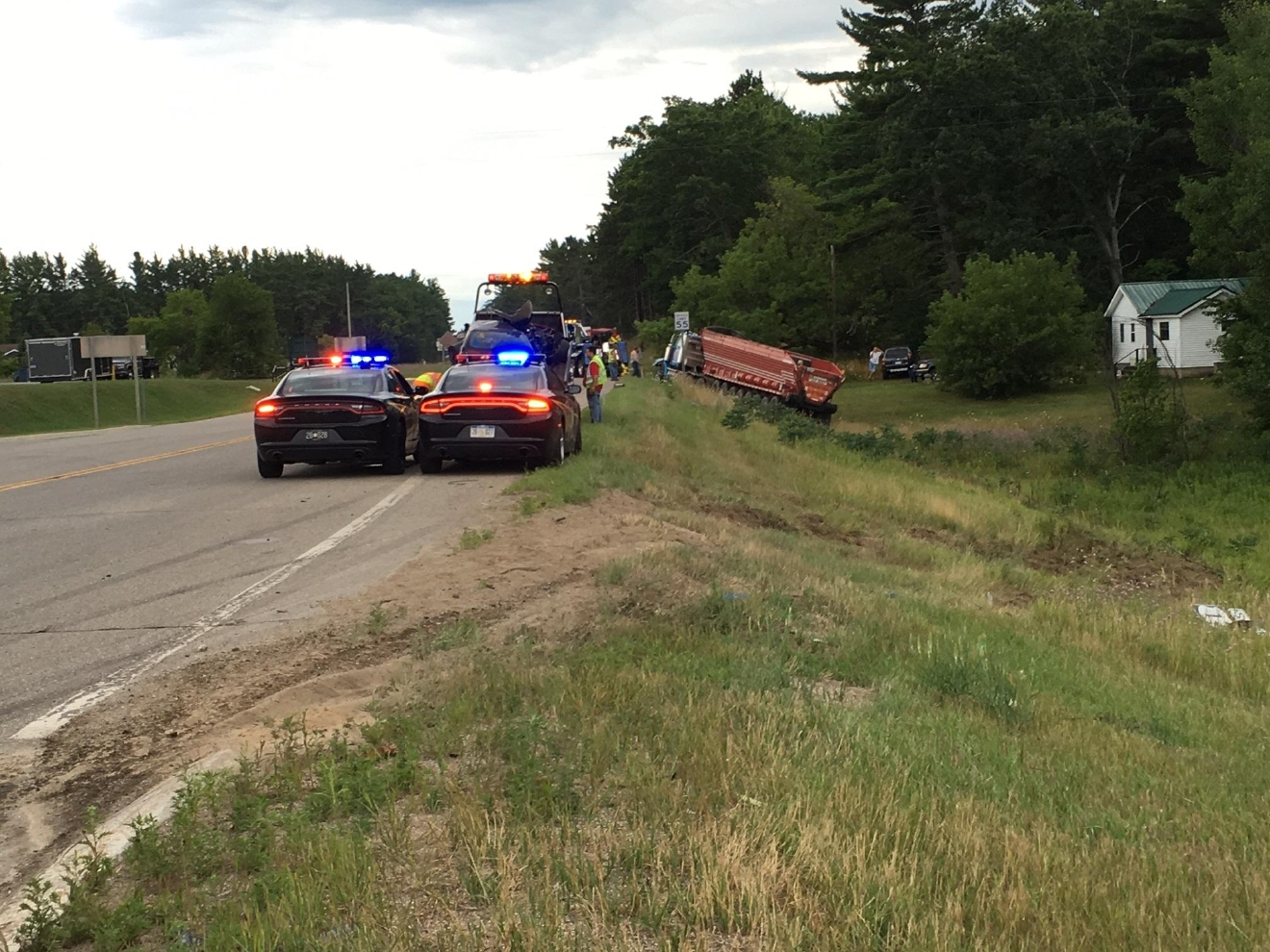 The crash happened just before 6 p.m. near Fife Lake.