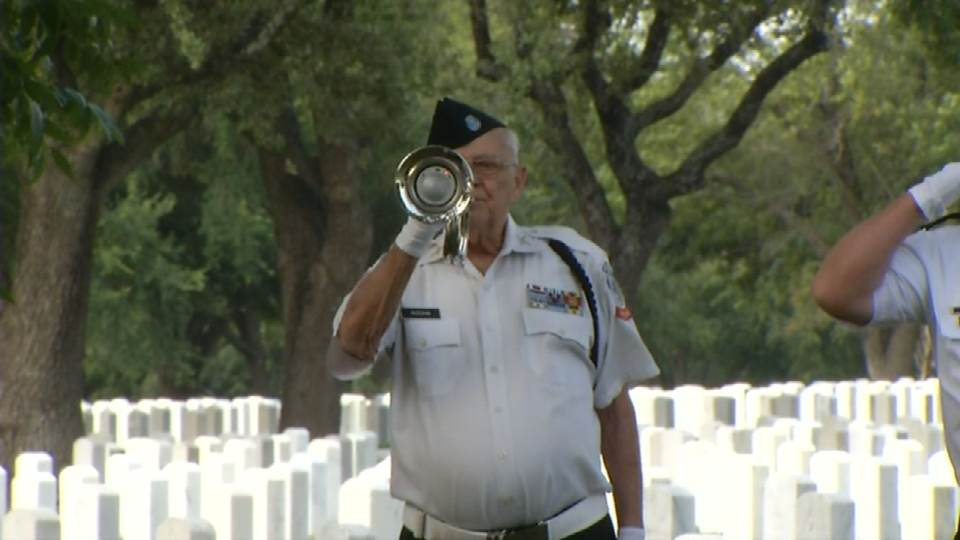 Veterans who died without family laid to rest with full military honors at Fort Sam Houston on Wednesday, September 6, 2017. (Photos: Sinclair Broadcast Group)