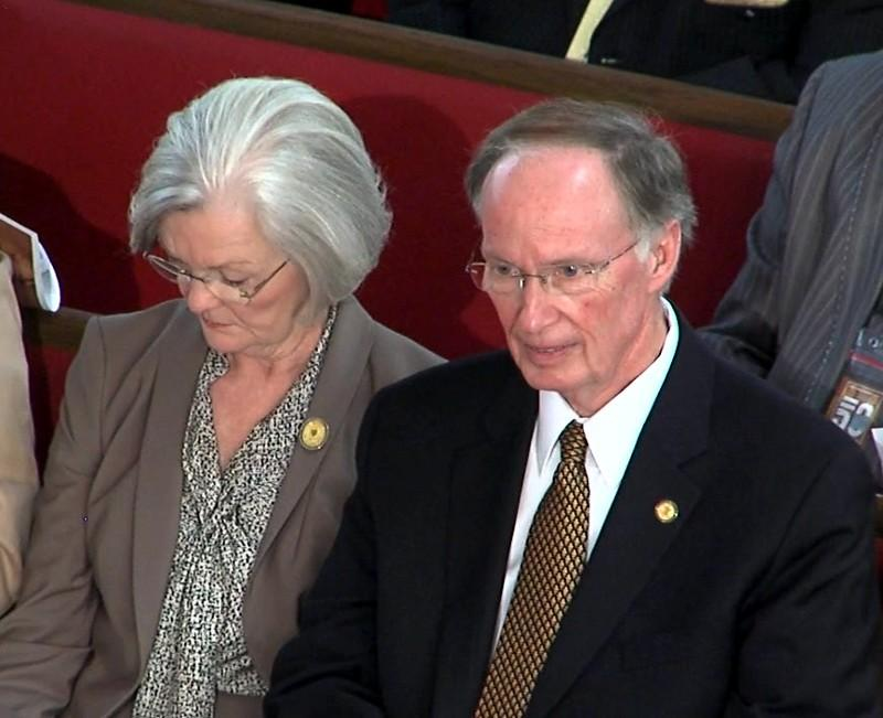 Alabama Governor Robert Bentley and his wife Dianne at 16th Street Baptist Church for a 50th anniversary commemoration of the 1963 bombing.