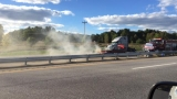 Car fire blocks lanes on Maine Turnpike in Biddeford