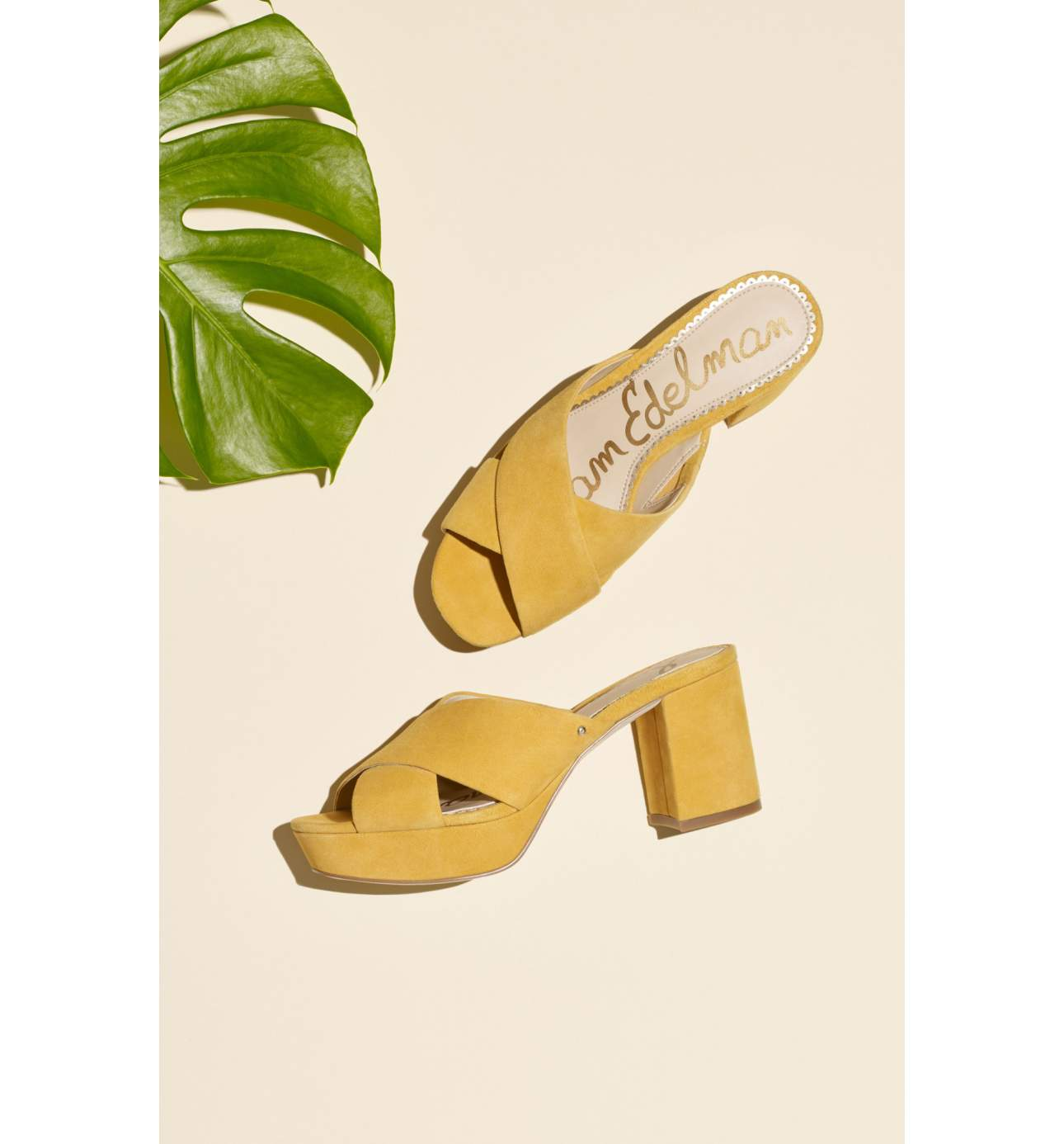 This Spring you're going to see block heels EVERYWHERE.{ } This mustard yellow is a go-to.{ } This sandal also comes in dusty rose and{ } pink lemonade.{ } Dying over those color names btw. Pair with jeans or a floral spring dress. Jayne Sandal - $119.95. (Image: Nordstrom){ }